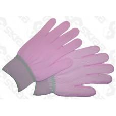 Перчатки нейлоновые с ПВХ нап.-цветные