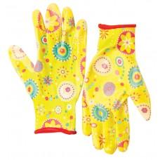 Перчатки полиэстер с нитрил. прозрач покрытием 7/S