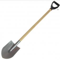 """Титановая лопата штыковая 170х240 """"дачная"""" 1,2мм; черенок: лак/осиновый, 100см, ф36мм"""
