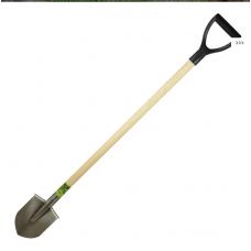 """Титановая лопата штыковая 150х190мм """"дачная мини"""" 1,2мм; черенок: лак/осиновый, 100см, ф33мм"""