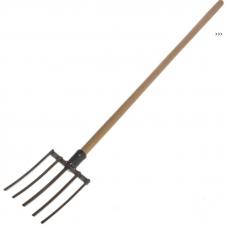 Вилы титановые 5-и рогие; черенок лак/осиновый, 120см, ф38мм
