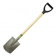 """Титановая лопата прямая """"Макси авто"""" 200х270 2,0мм; черенок: лак/осиновый 75см, ф38мм"""