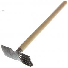 Т-3 тяпка/рыхлитель прямая 5 зубов 1,5 мм, черенок 50 см