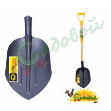 Лопата путейская щебёночная с деревянным черенком и ручкой