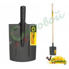 Лопата штыковая прямоугольная с деревянным черенком