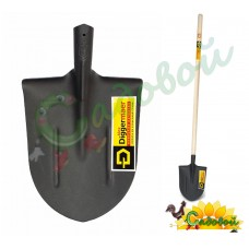 Лопата штыковая универсальная с деревянным черенком